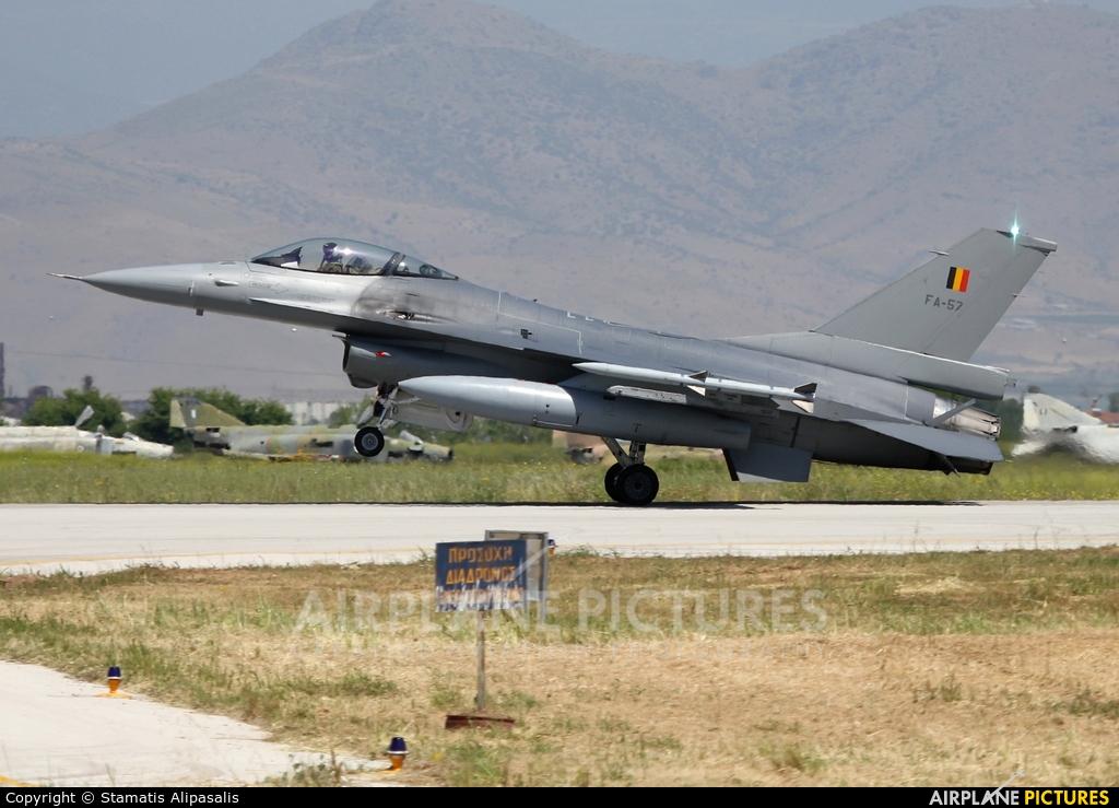 Belgium - Air Force FA-57 aircraft at Larissa