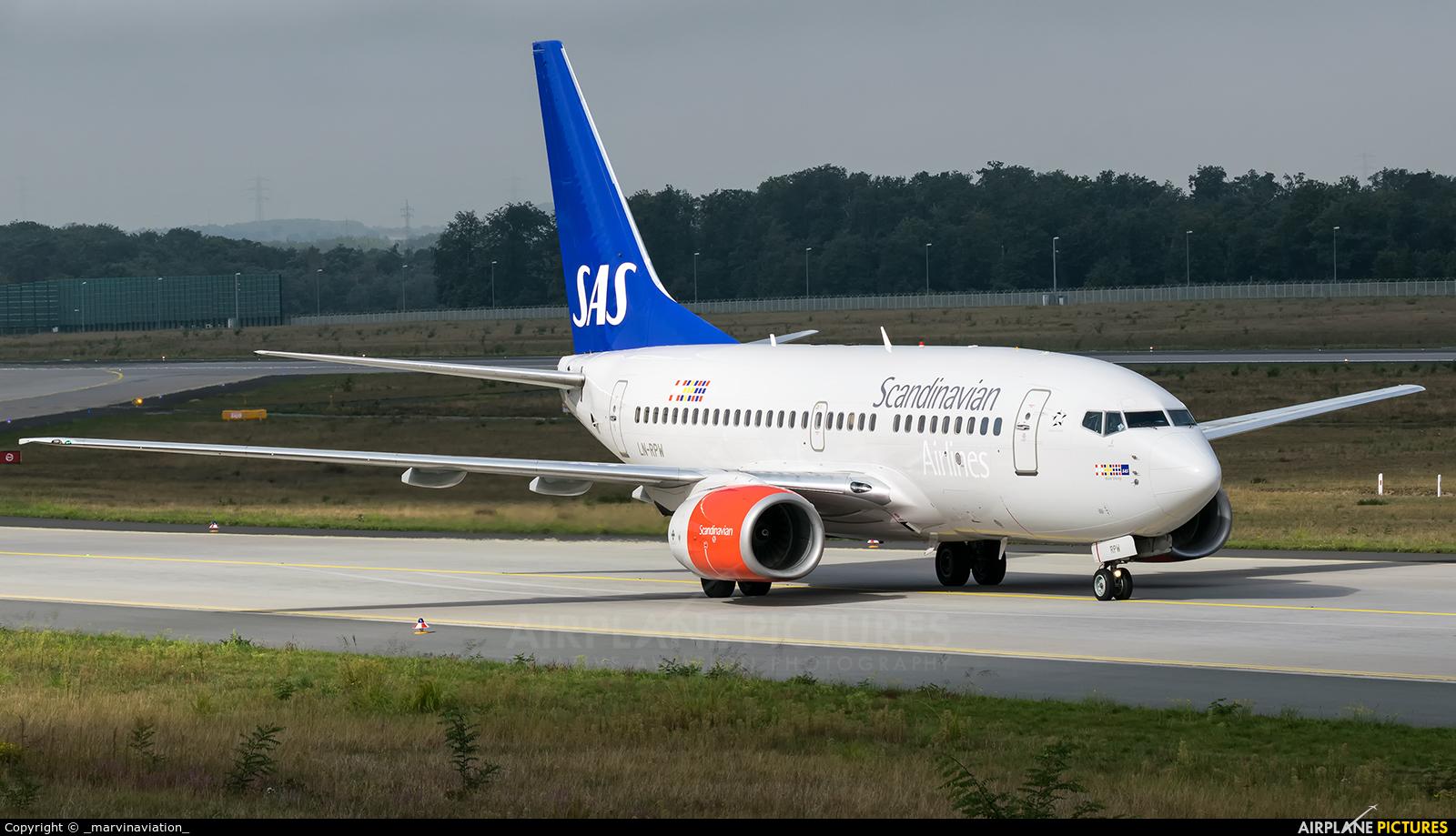 SAS - Scandinavian Airlines LN-RPW aircraft at Frankfurt