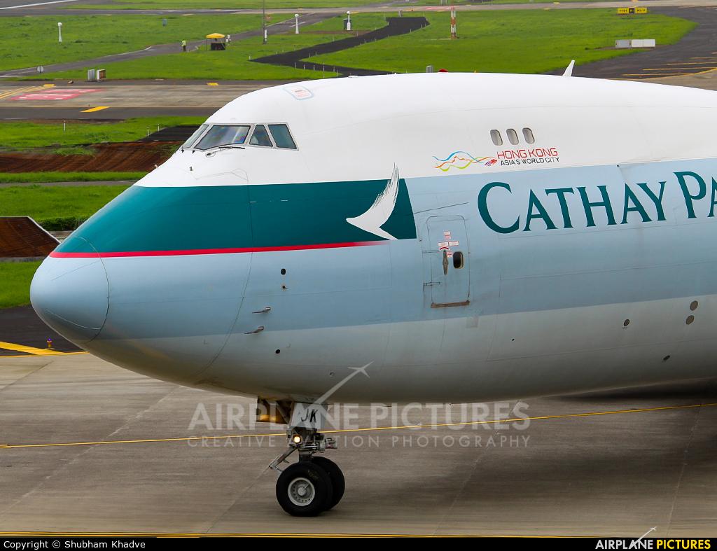 Cathay Pacific Cargo B-LJK aircraft at Mumbai - Chhatrapati Shivaji Intl