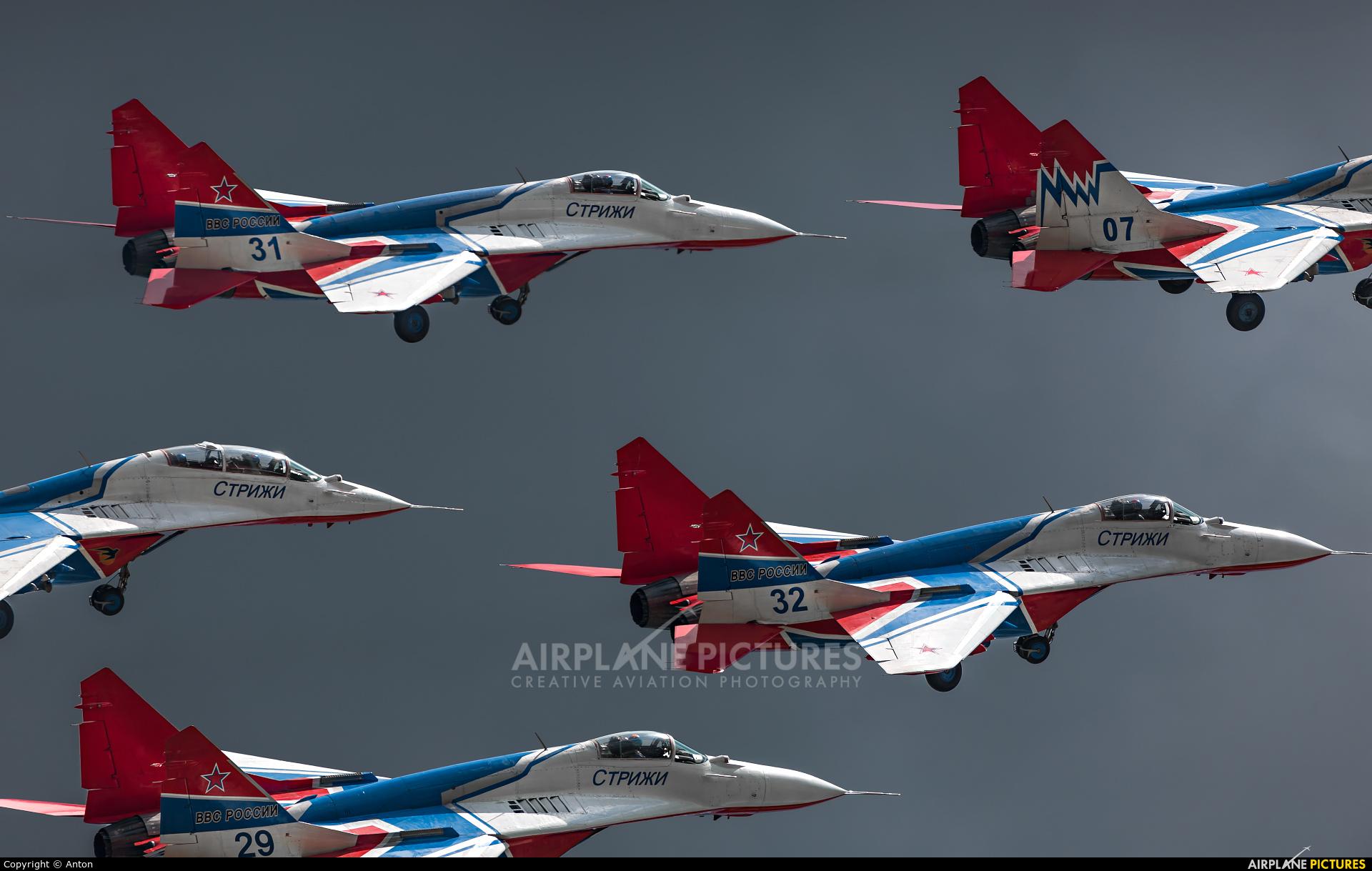 "Russia - Air Force ""Strizhi"" 31 aircraft at Ramenskoye - Zhukovsky"