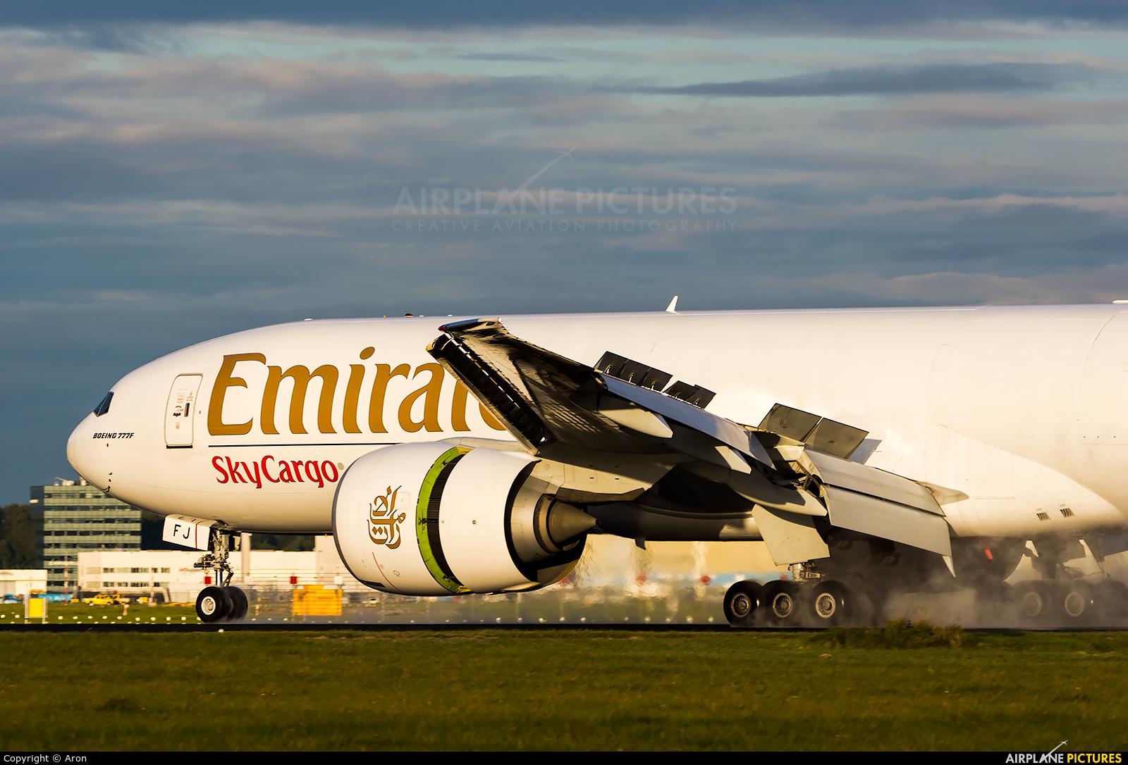 Emirates Sky Cargo A6-EFJ aircraft at Amsterdam - Schiphol