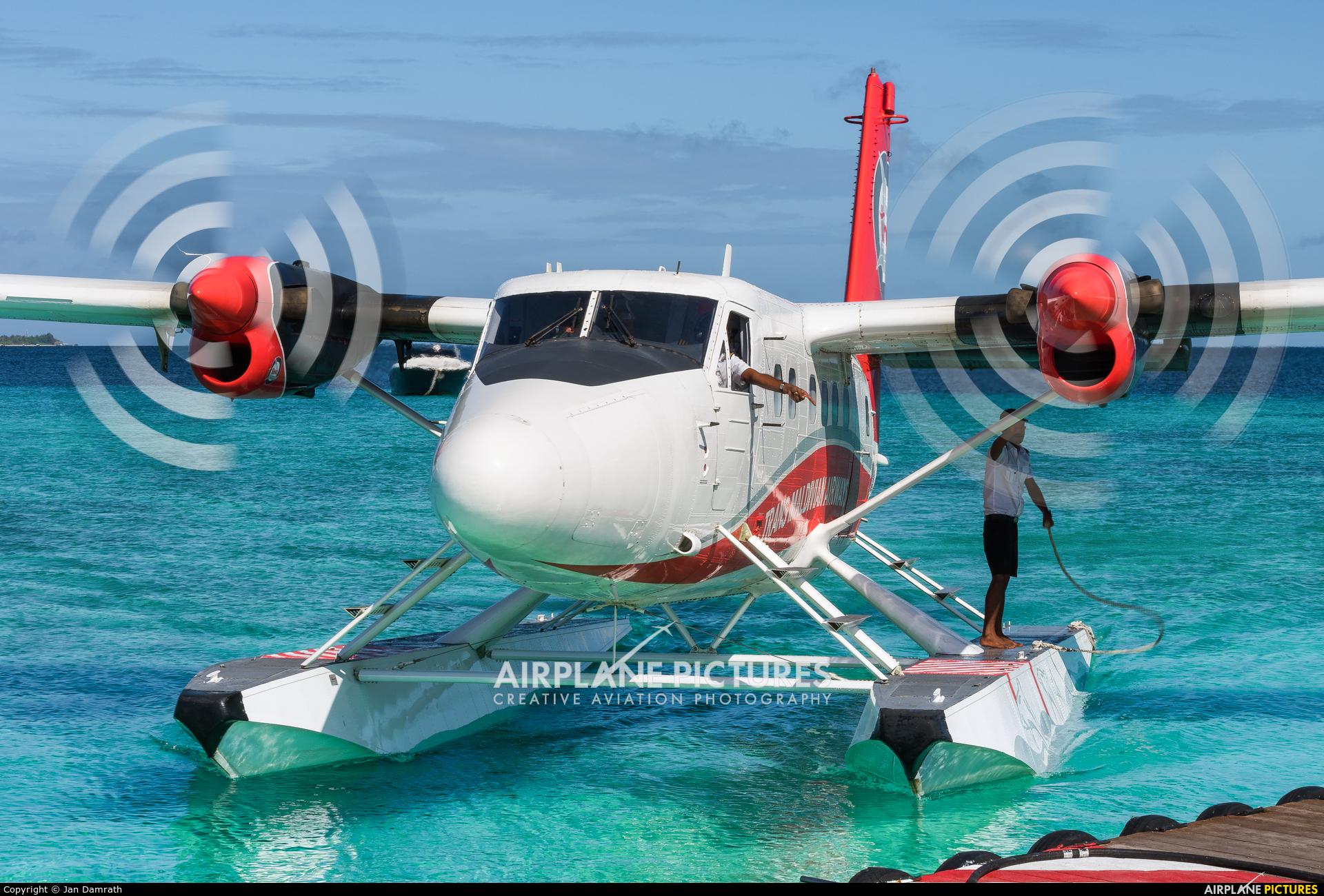 Trans Maldivian Airways - TMA 8Q-TMO aircraft at Off Airport - Maldives