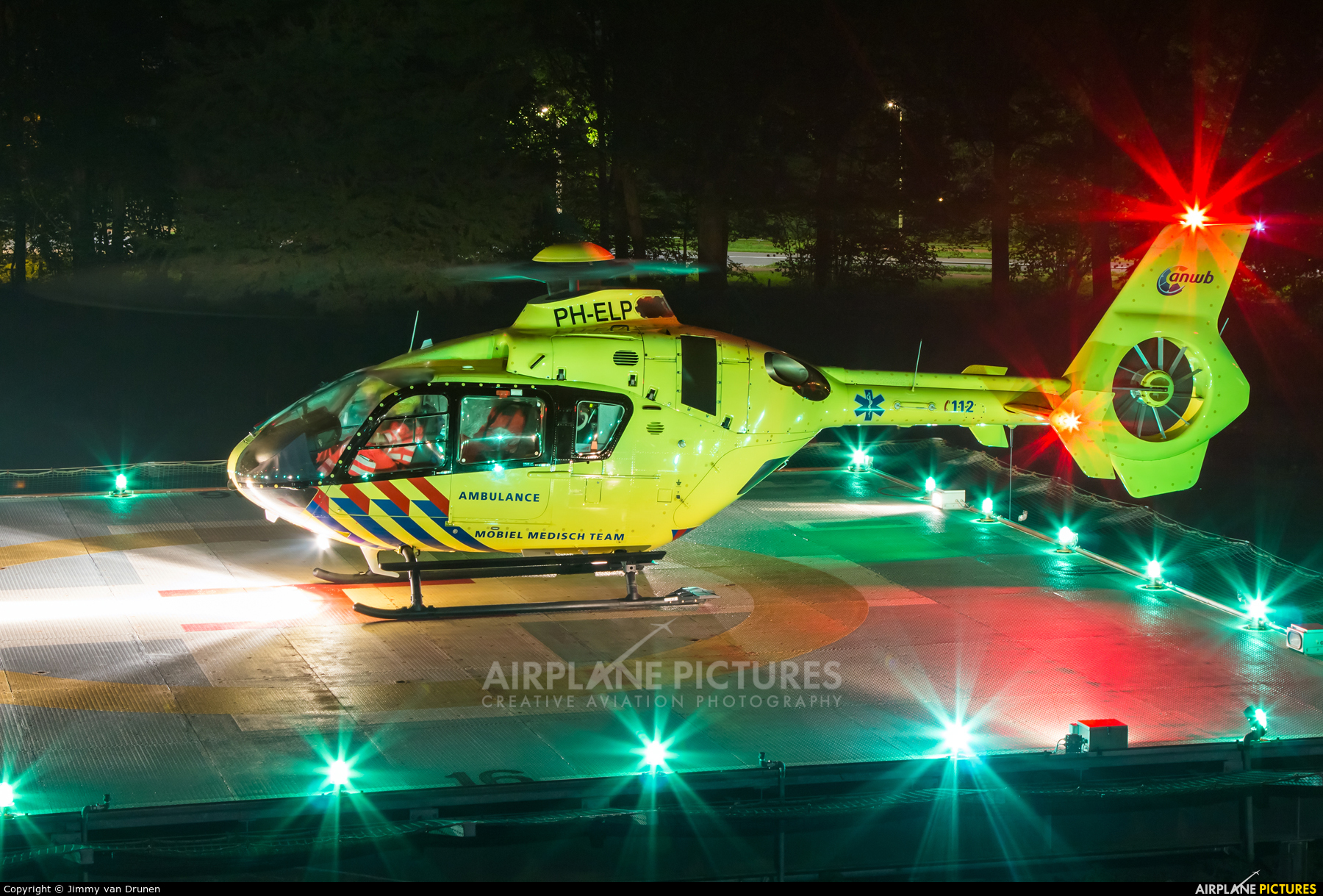 ANWB Medical Air Assistance PH-ELP aircraft at Off Airport - Netherlands