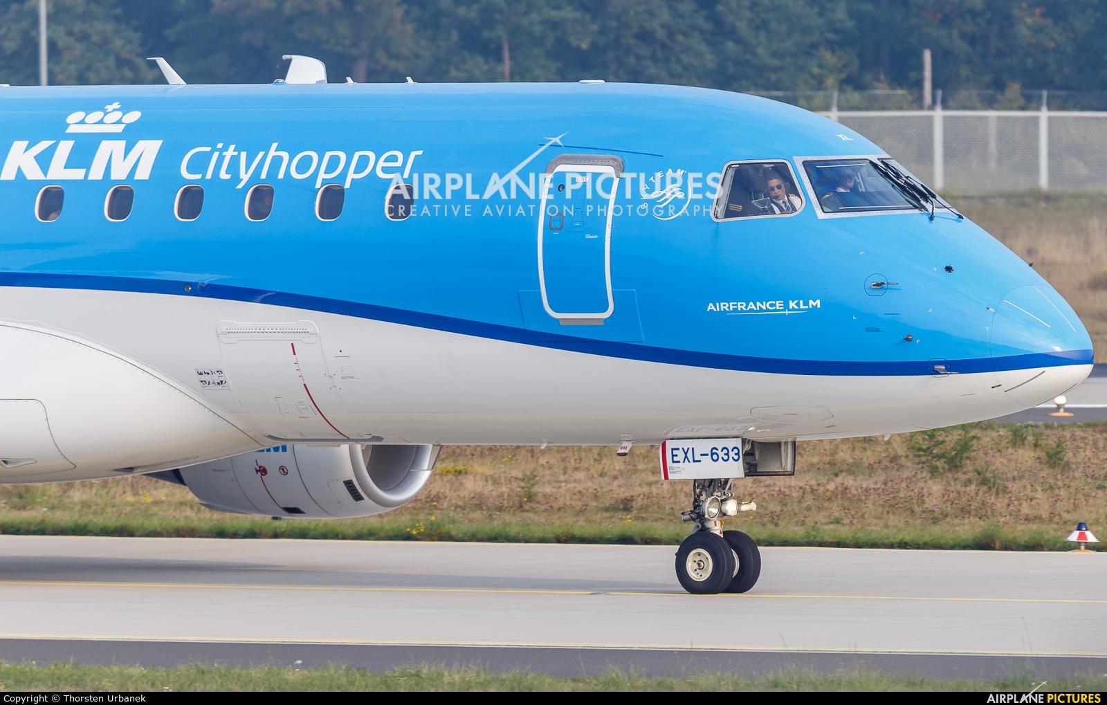 KLM Cityhopper PH-EXL aircraft at Frankfurt