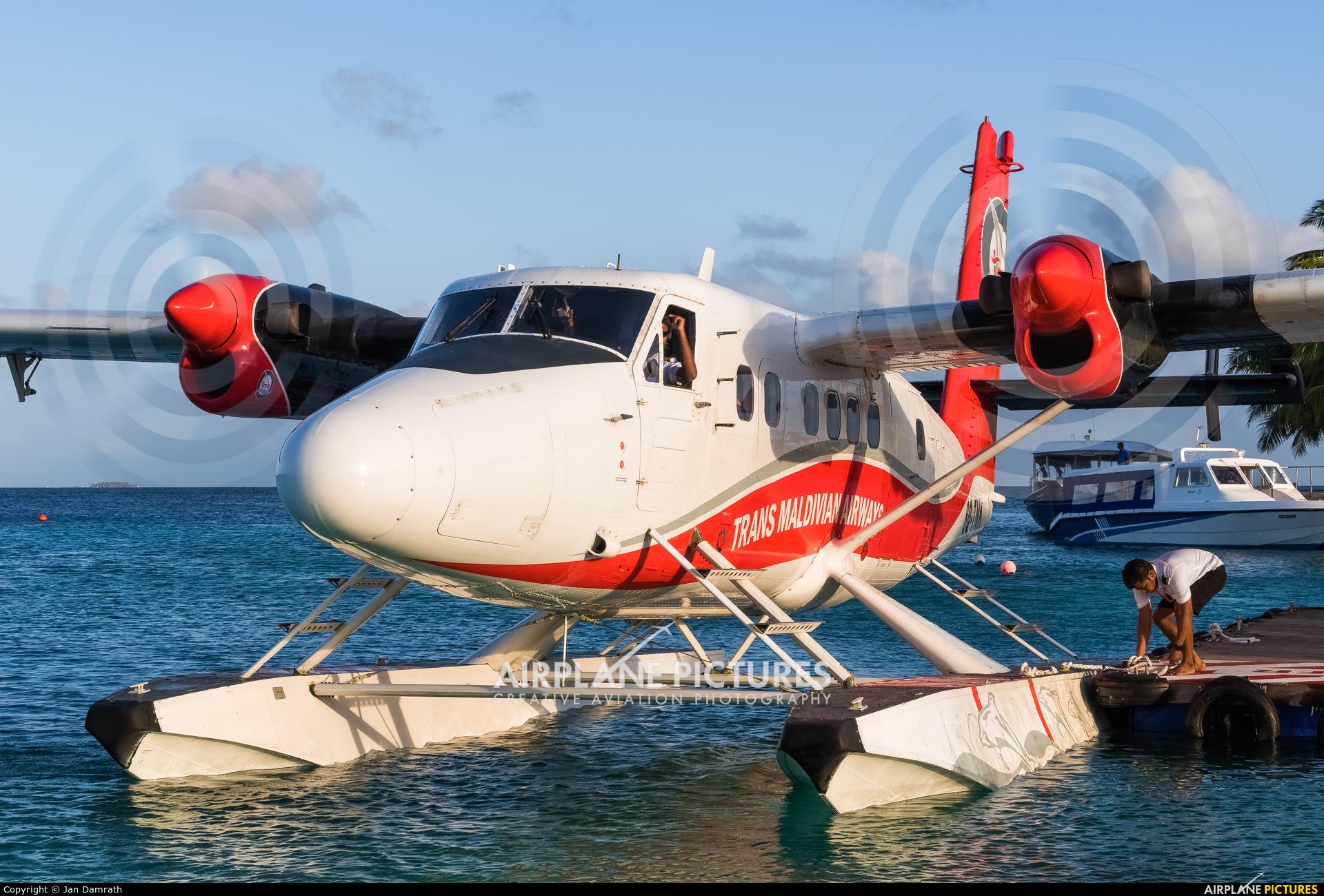 Trans Maldivian Airways - TMA 8Q-TMK aircraft at Off Airport - Maldives