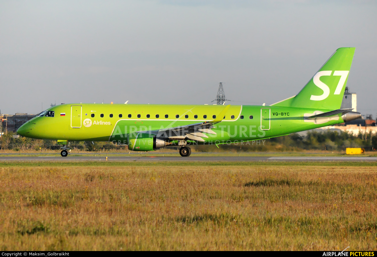 S7 Airlines VQ-BYC aircraft at Omsk Tsentralny