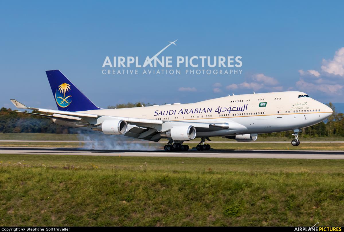 Saudi Arabia - Royal Flight HZ-HM1 aircraft at Basel - Mulhouse- Euro