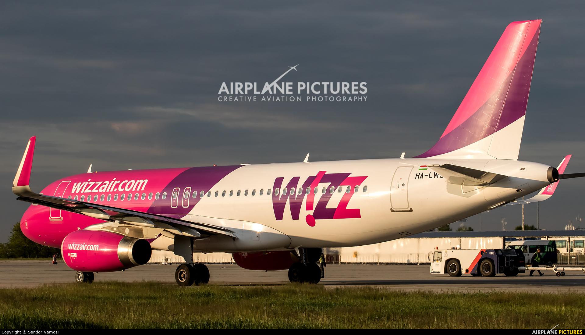 Wizz Air HA LWS aircraft at Budapest Ferenc Liszt International Airport