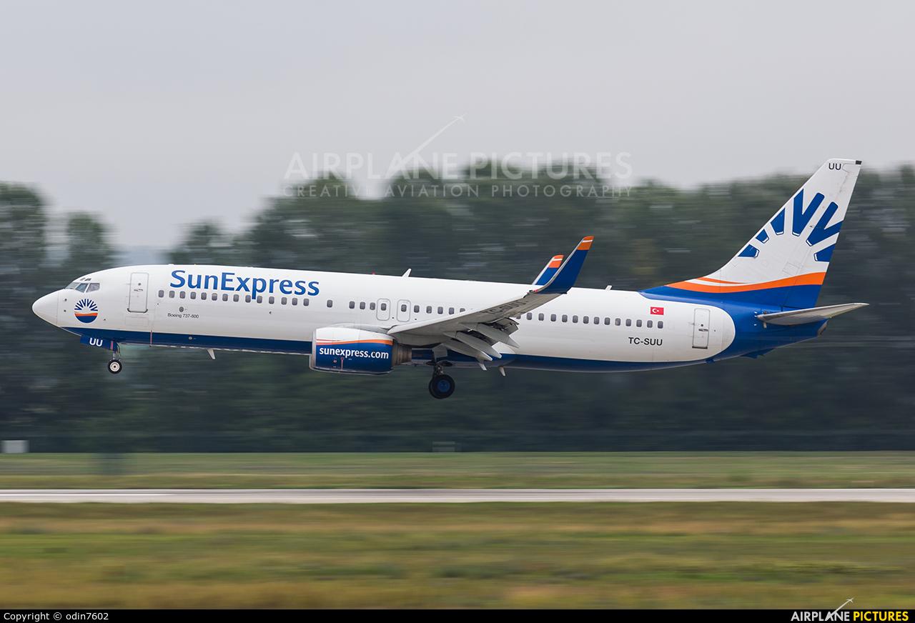 SunExpress TC-SUU aircraft at Budapest Ferenc Liszt International Airport