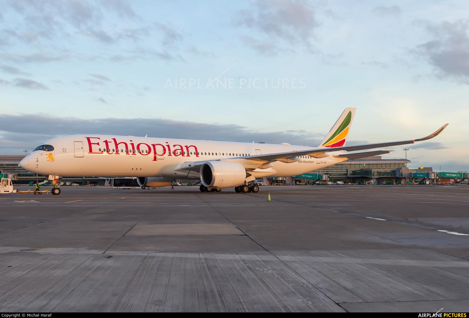 Ethiopian Airlines ET-ATR aircraft at Dublin