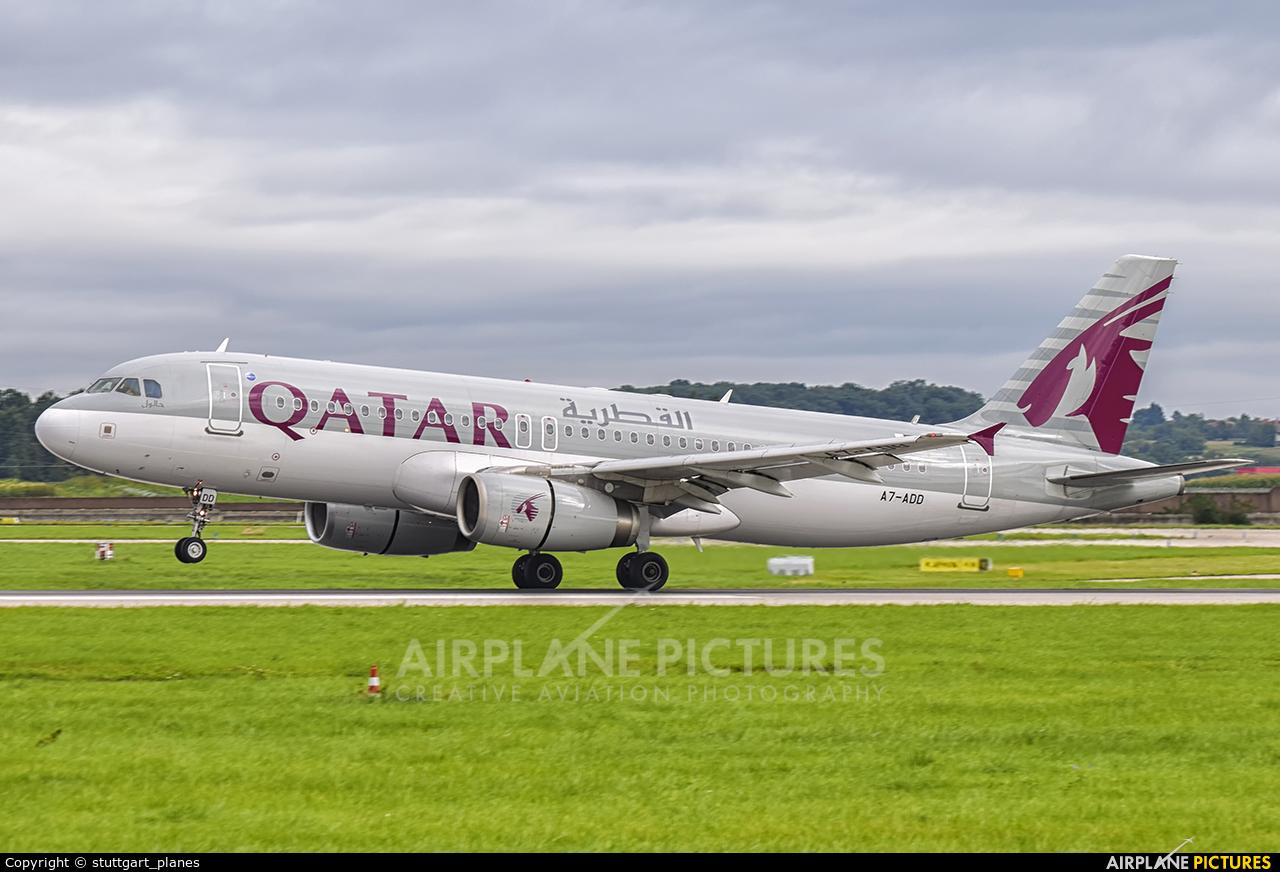 Qatar Airways A7-ADD aircraft at Stuttgart