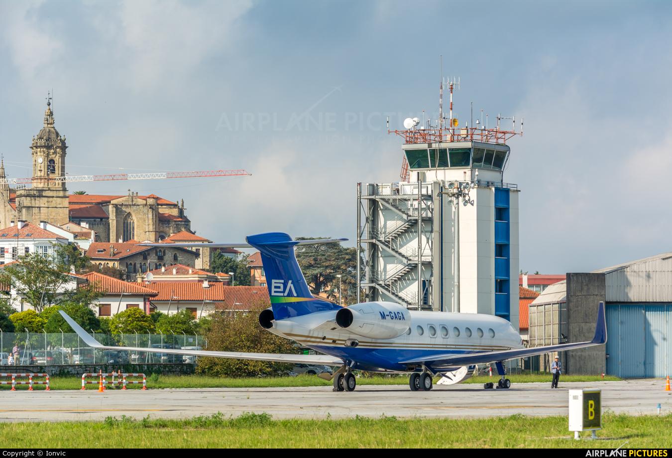 Private M-GAGA aircraft at San Sebastian