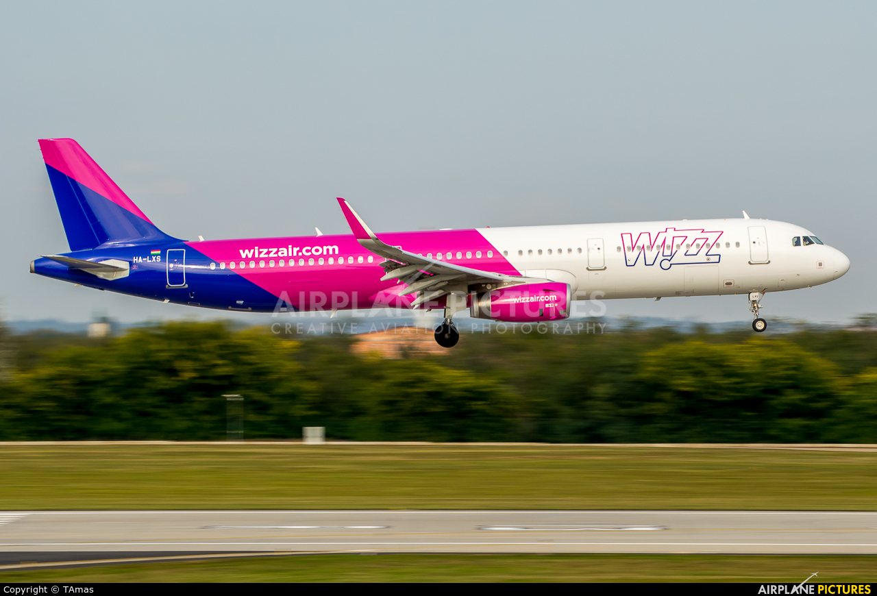 Wizz Air HA-LXS aircraft at Budapest Ferenc Liszt International Airport