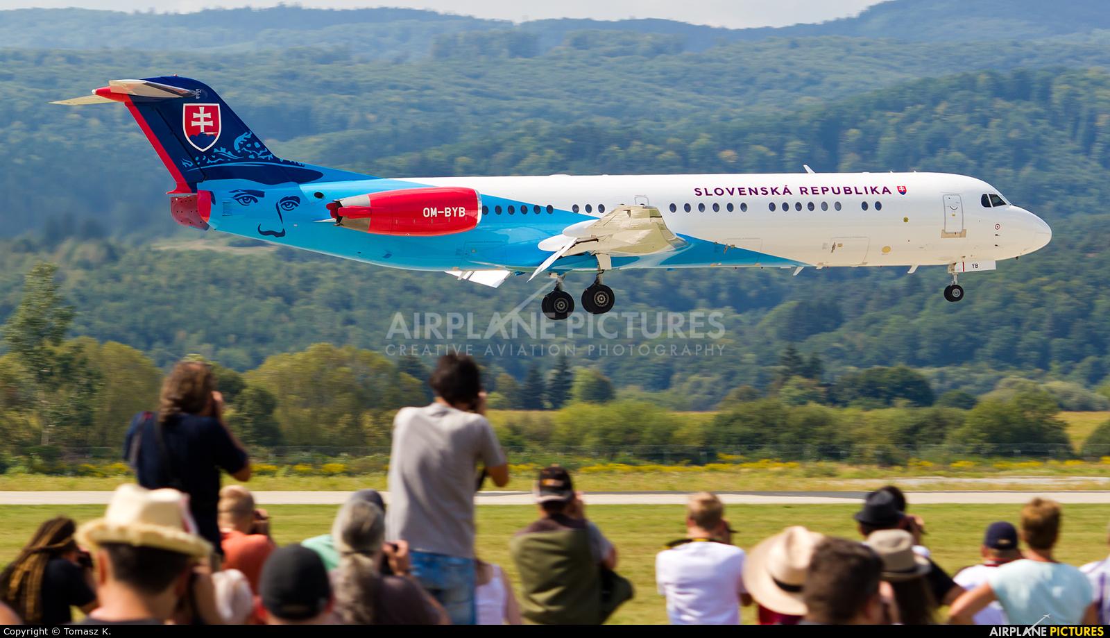Slovakia -  Air Force OM-BYB aircraft at Sliač