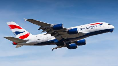 G-XLED - British Airways Airbus A380