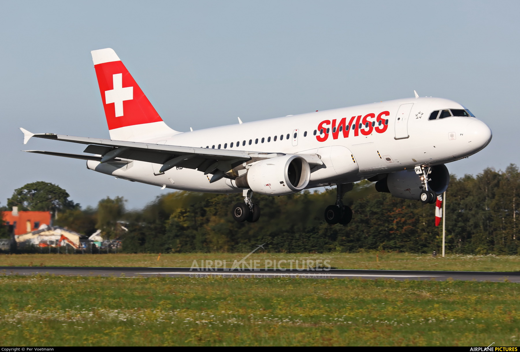 Swiss HB-IPV aircraft at Copenhagen Kastrup