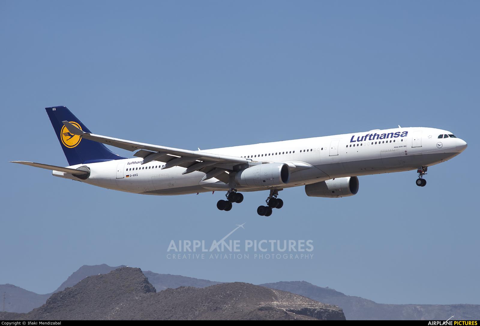 Lufthansa D-AIKQ aircraft at Aeropuerto de Gran Canaria