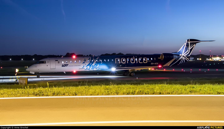 Nordica ES-ACG aircraft at Warsaw - Frederic Chopin