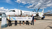 Inaugural SkyWork's flight between Vienna and Basel title=