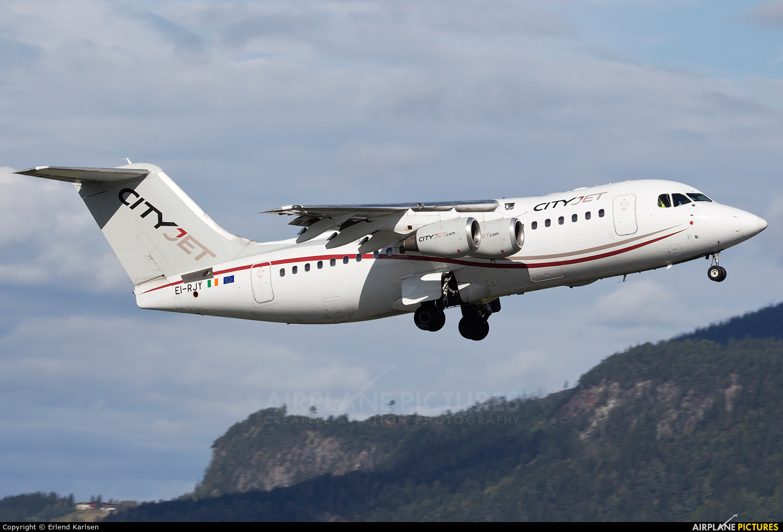 CityJet EI-RJY aircraft at Trondheim - Vaernes