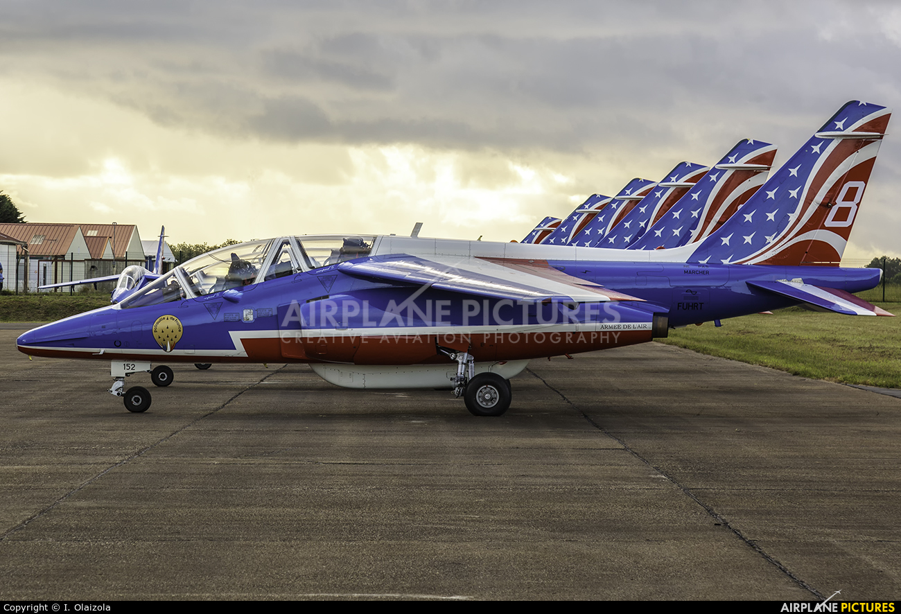 "France - Air Force ""Patrouille de France"" F-UHRT aircraft at Biarritz"
