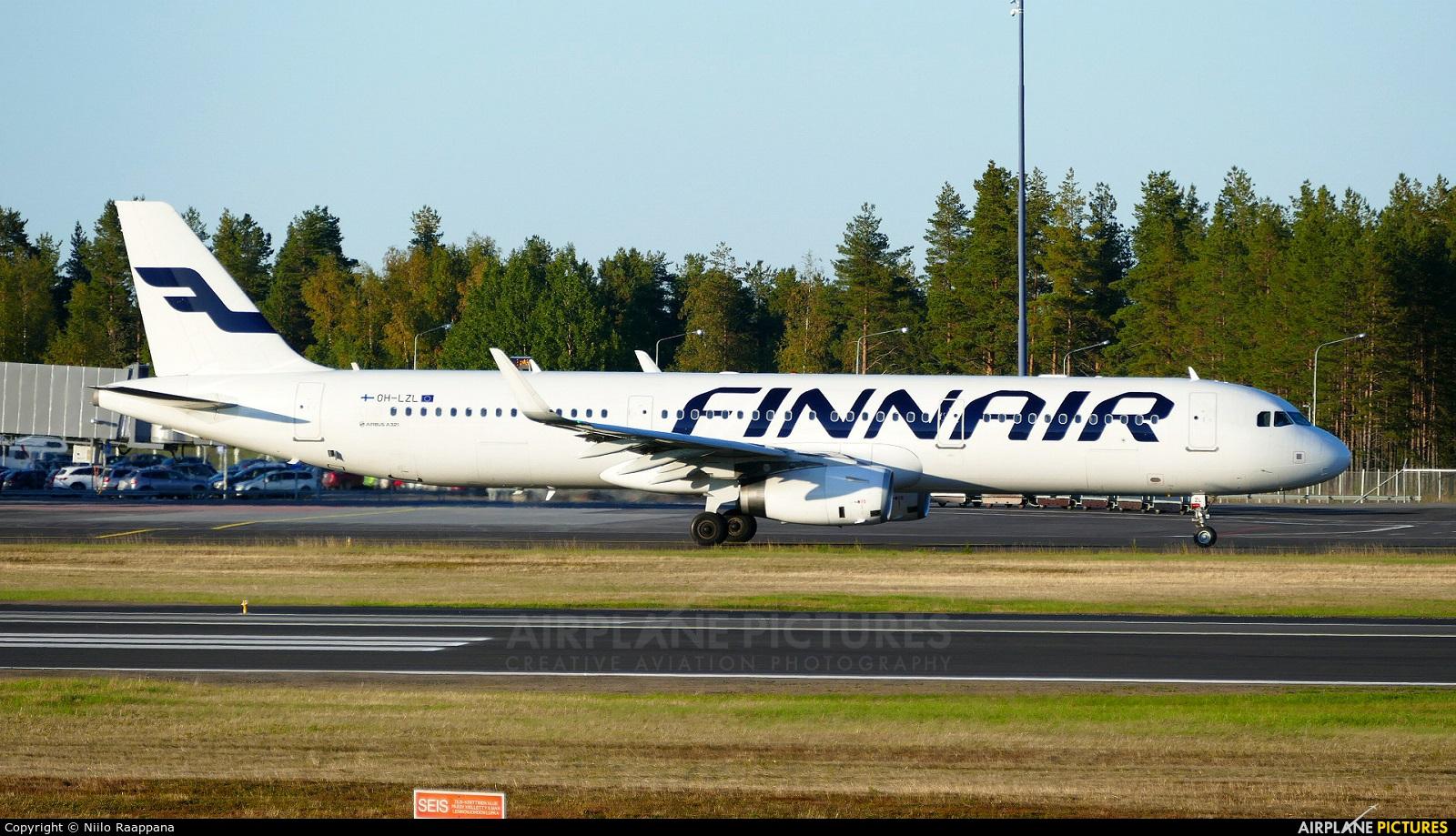 Finnair OH-LZL aircraft at Oulu