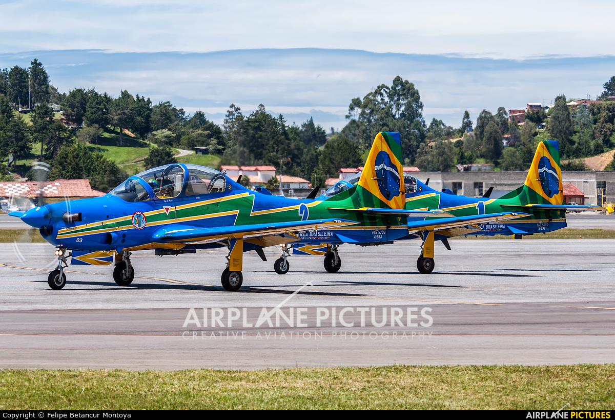 "Brazil - Air Force ""Esquadrilha da Fumaça"" FAB5703 aircraft at Medellin - Jose Maria Cordova Intl"