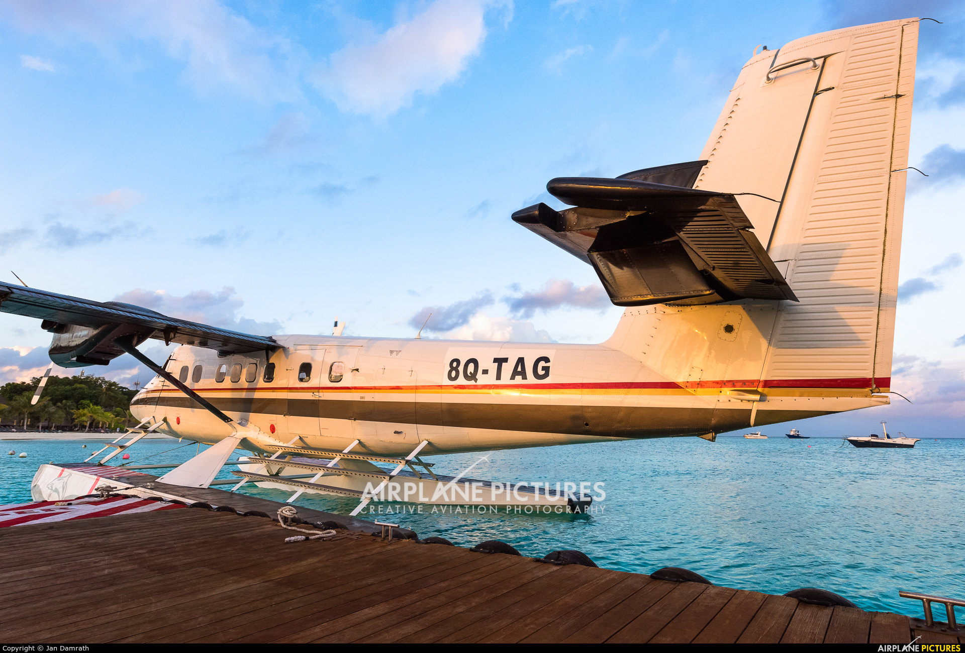 Trans Maldivian Airways - TMA 8Q-TAG aircraft at Off Airport - Maldives