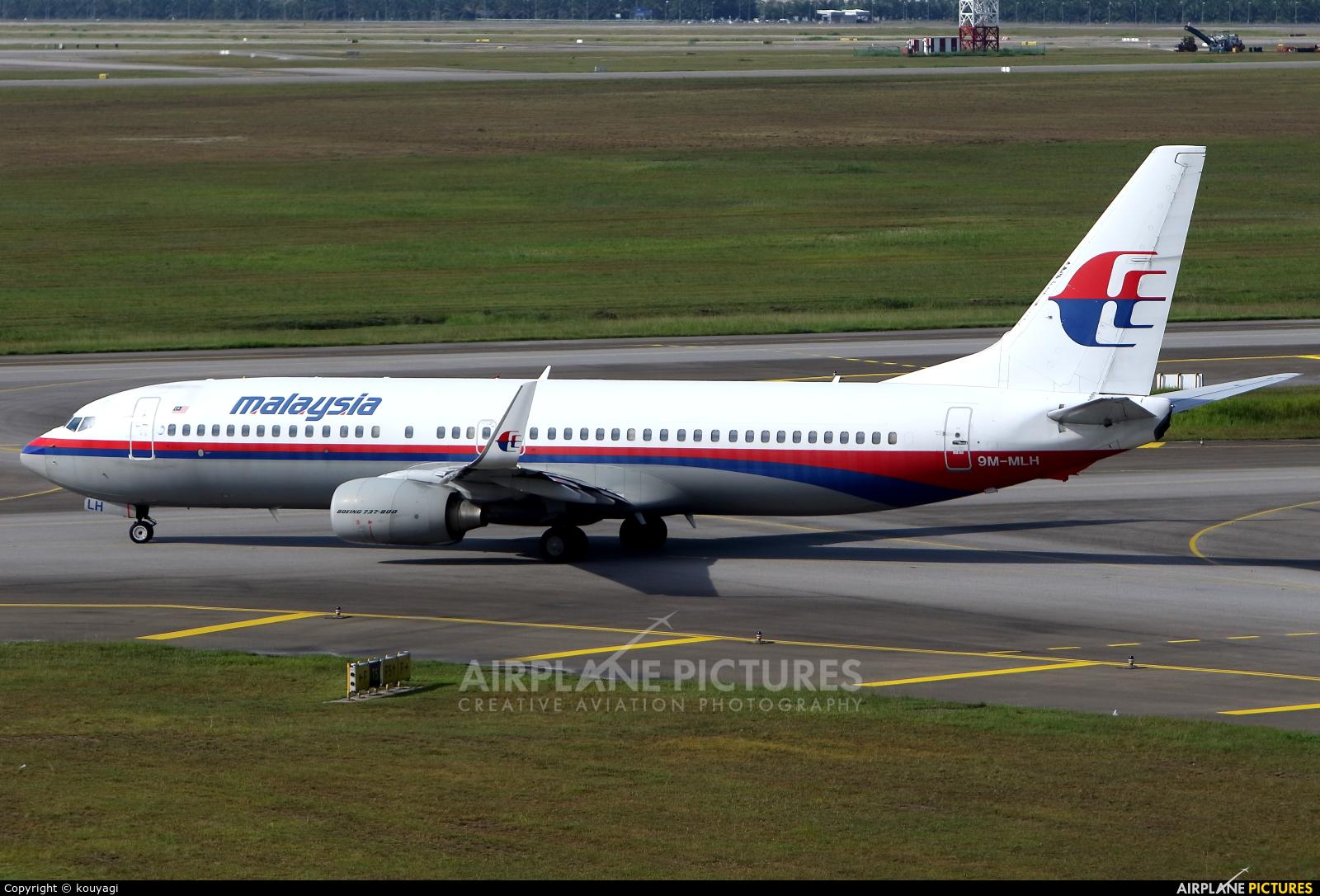 Malaysia Airlines 9M-MLH aircraft at Kuala Lumpur Intl