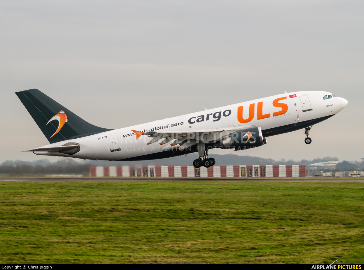 ULS Cargo TC-SGM aircraft at London - Stansted