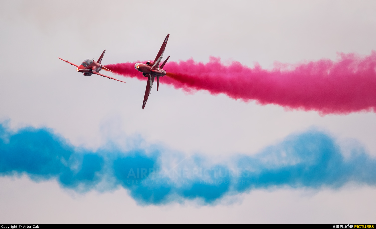 """Royal Air Force """"Red Arrows"""" XX311 aircraft at Portrush - Off Airport"""