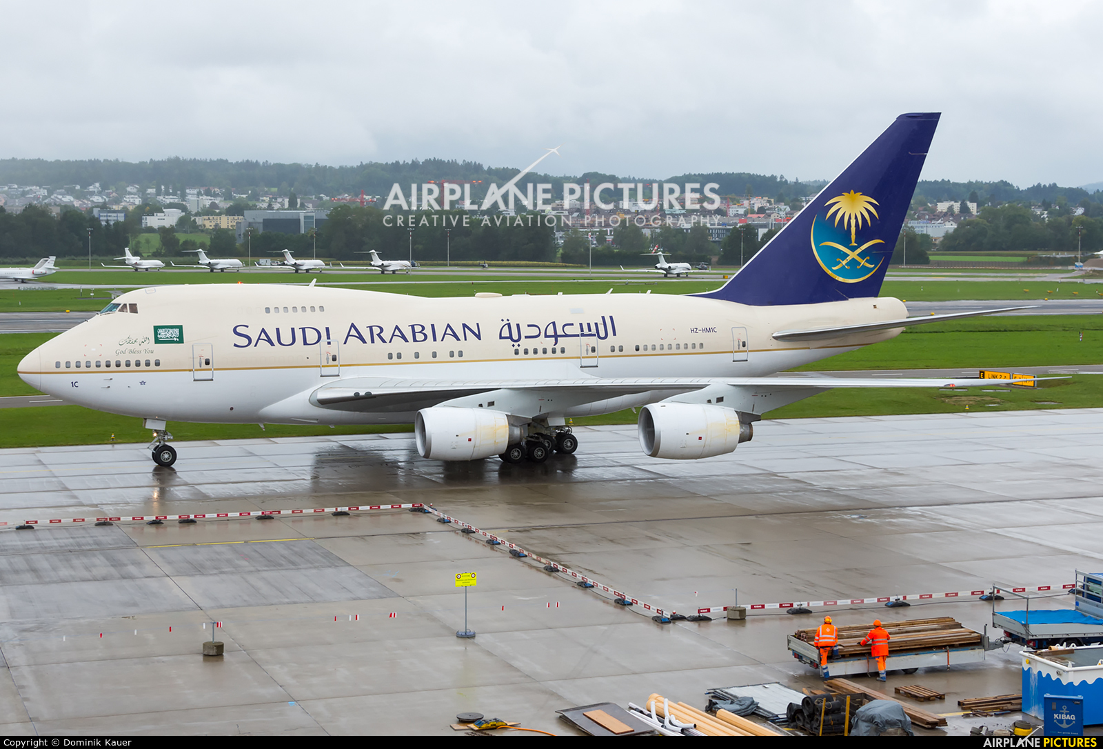 Saudi Arabia - Royal Flight HZ-HM1C aircraft at Zurich