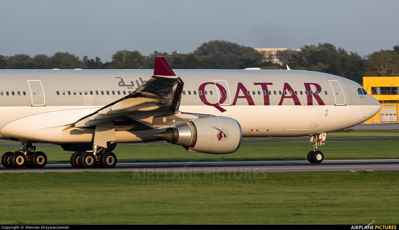 Qatar Airways A7-AEM aircraft at Warsaw - Frederic Chopin