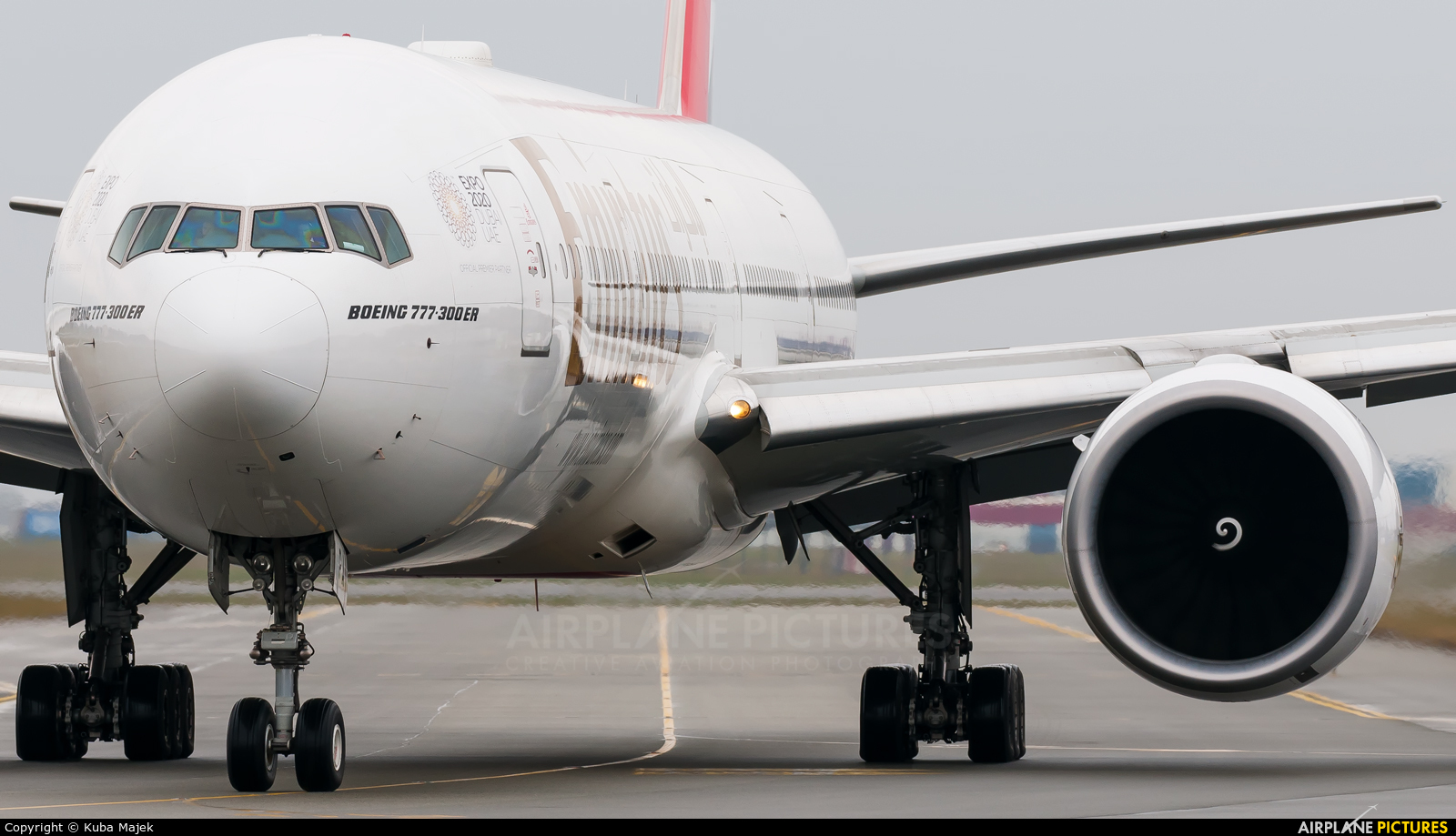 Emirates Airlines A6-EPA aircraft at Warsaw - Frederic Chopin