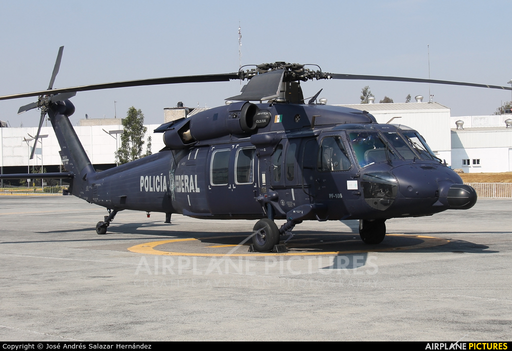 Mexico - Police PF-106 aircraft at Off Airport - Mexico