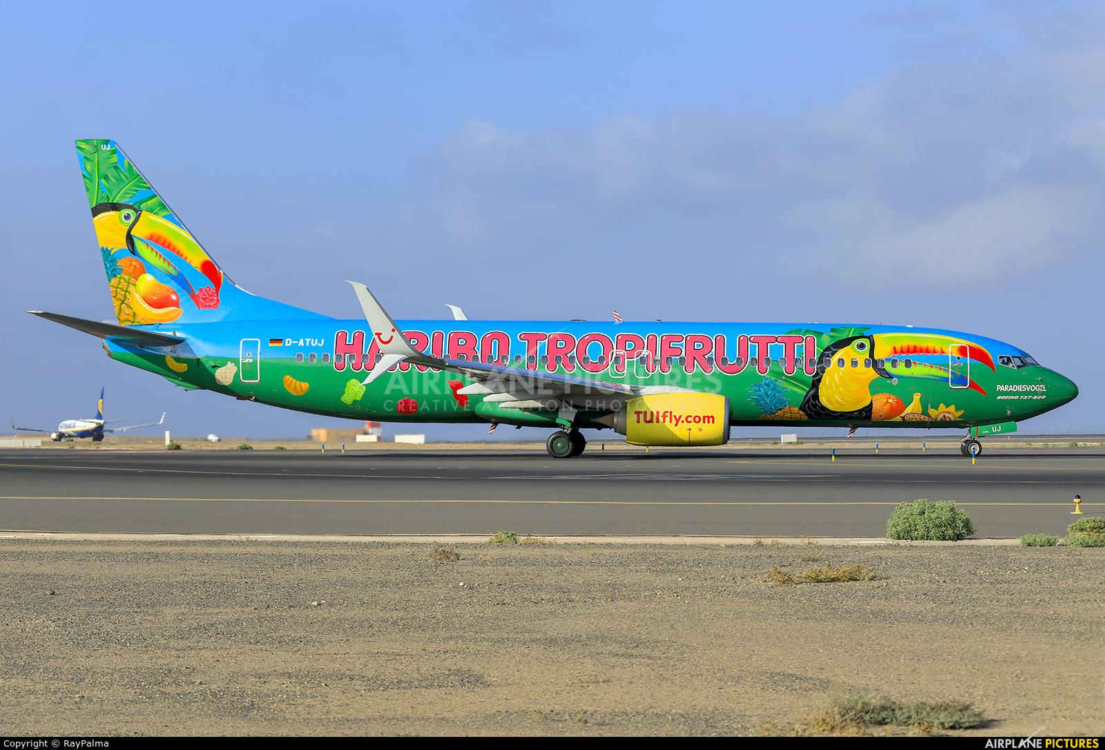 TUIfly D-ATUJ aircraft at Fuerteventura - Puerto del Rosario