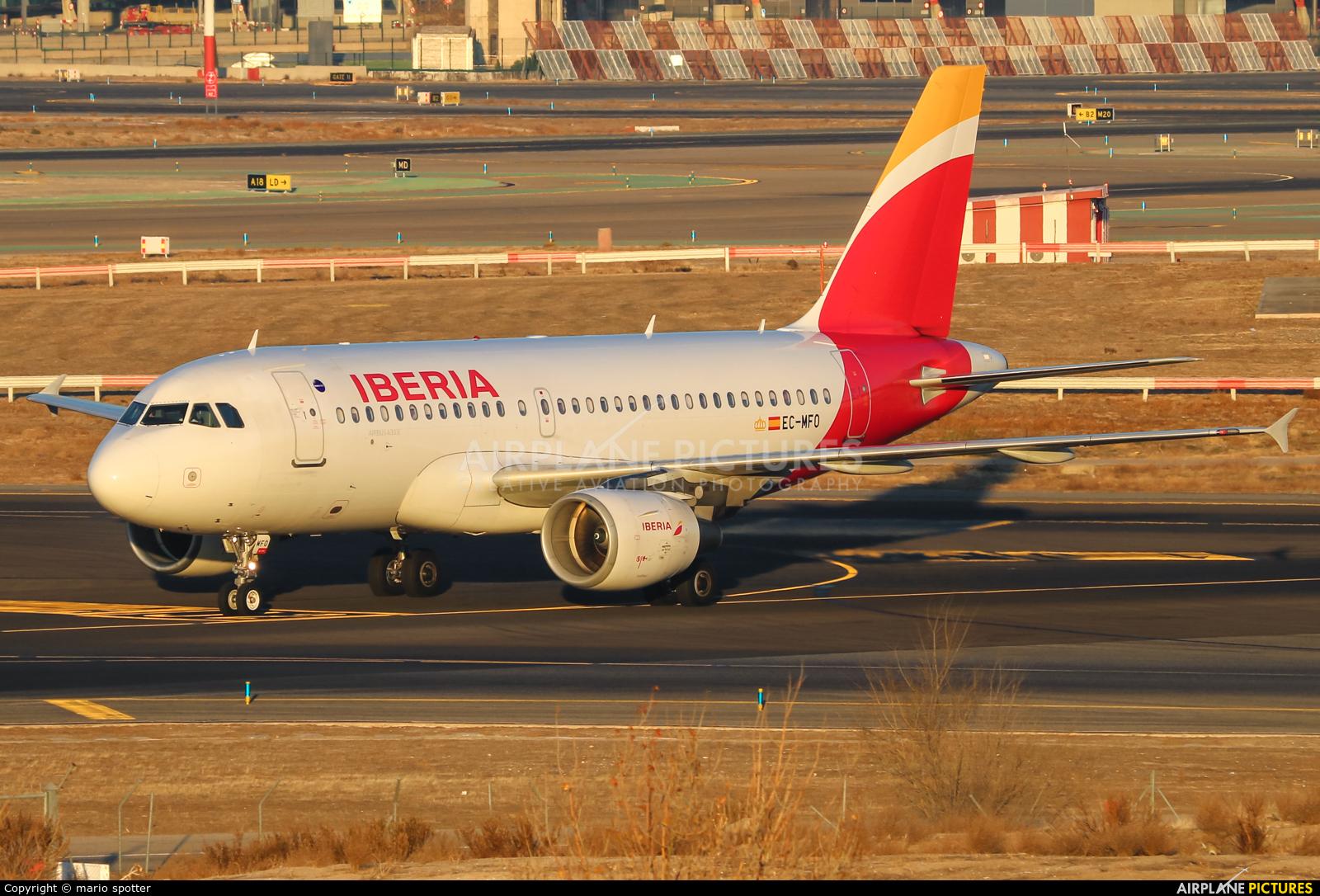 Iberia EC-MFO aircraft at Madrid - Barajas