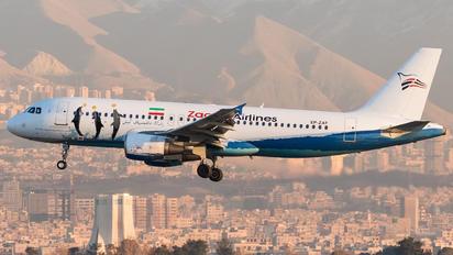 EP-ZAT - Zagros Air Airbus A320