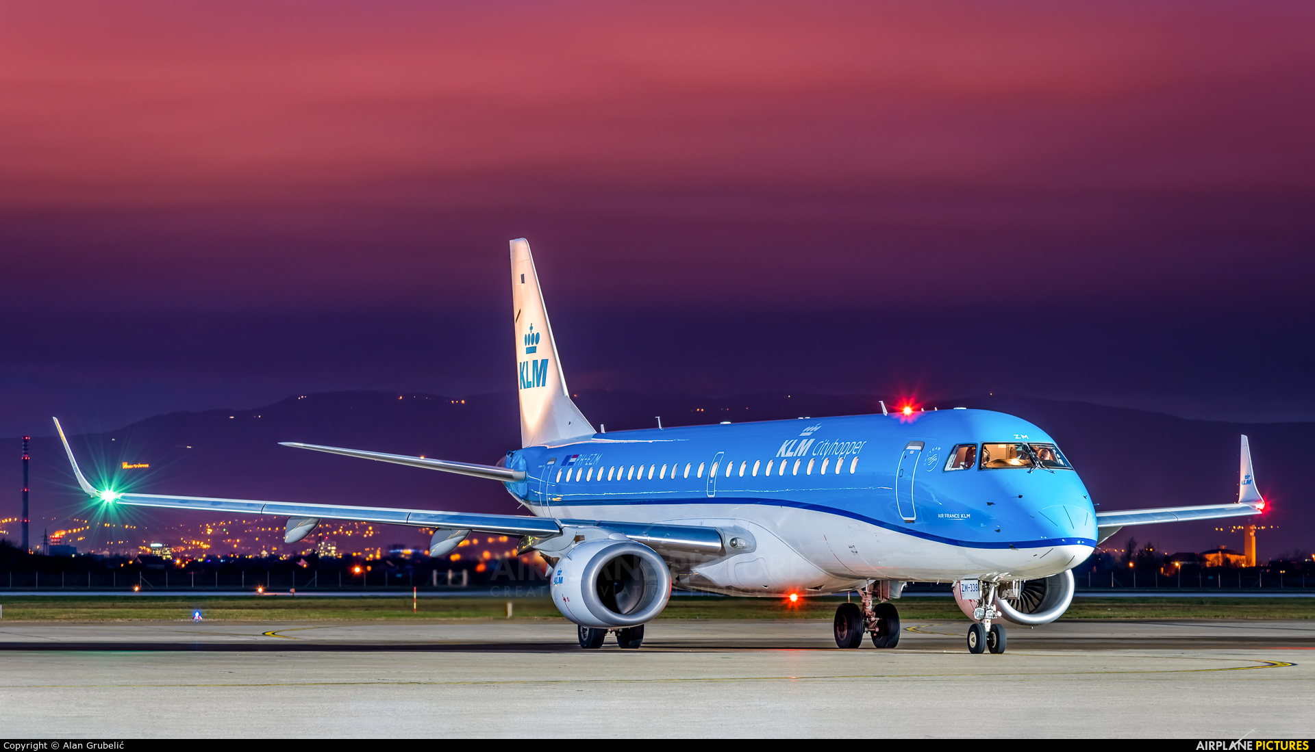KLM Cityhopper PH-EZM aircraft at Zagreb