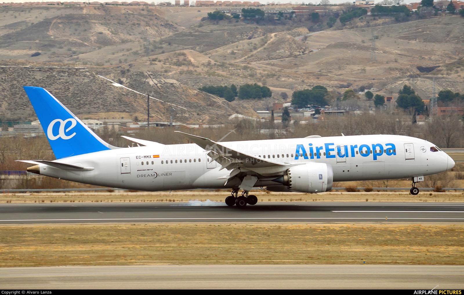 Air Europa EC-MMX aircraft at Madrid - Barajas