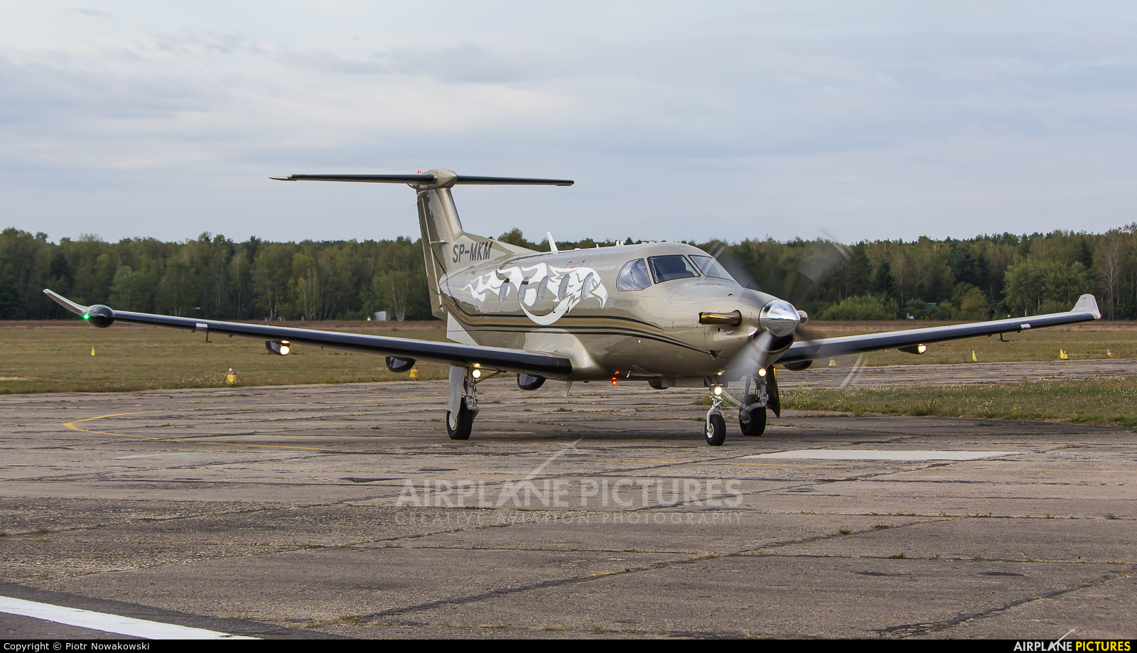 Private SP-MKM aircraft at Warsaw - Babice