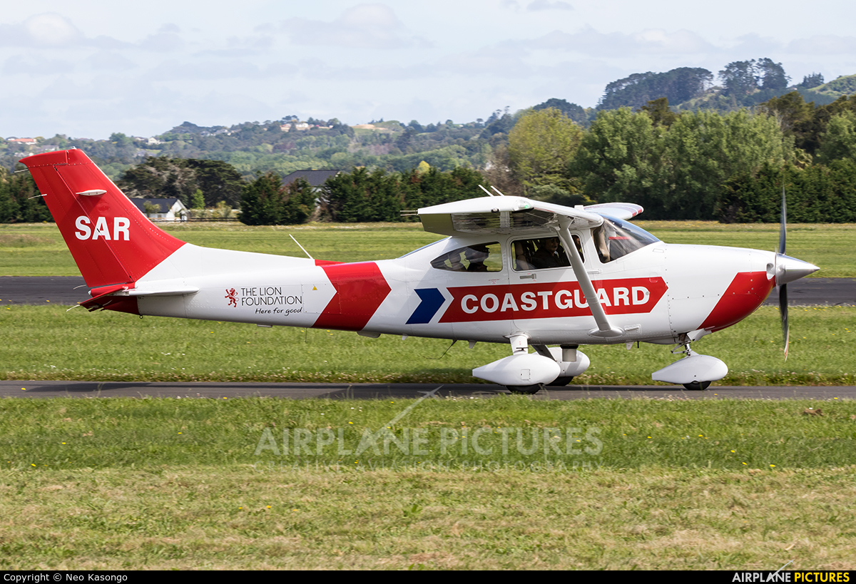Coastguard Northern Region ZK-SAR aircraft at Ardmore