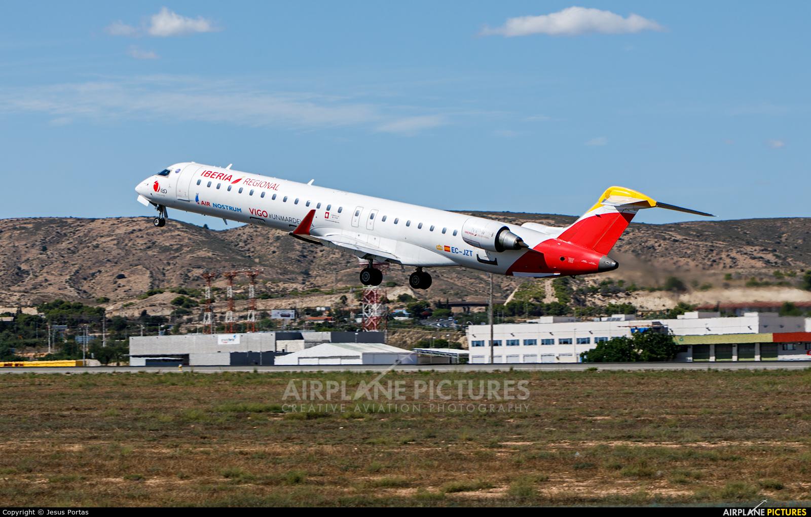 Air Nostrum - Iberia Regional EC-JZT aircraft at Alicante - El Altet