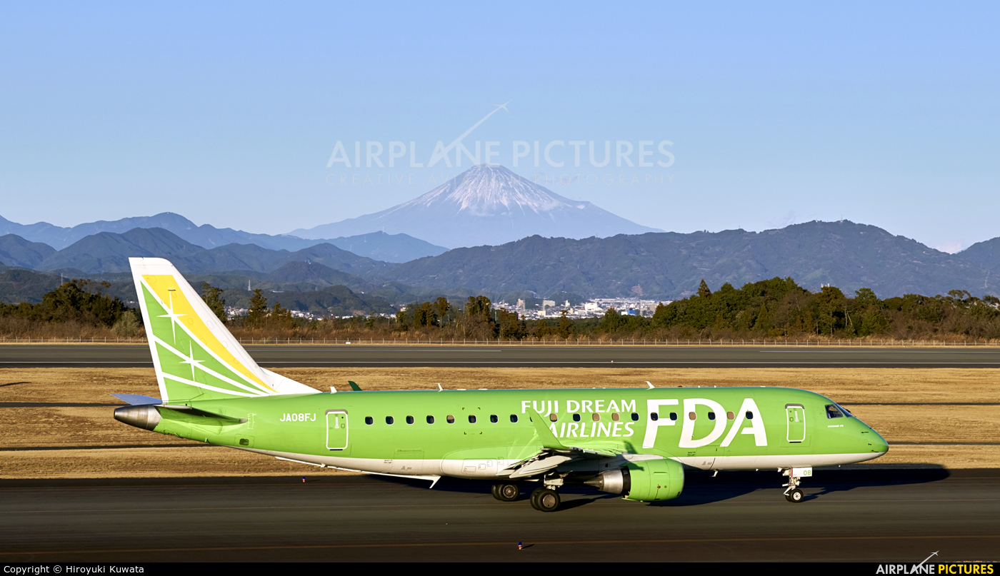 Fuji Dream Airlines JA08FJ aircraft at Shizuoka