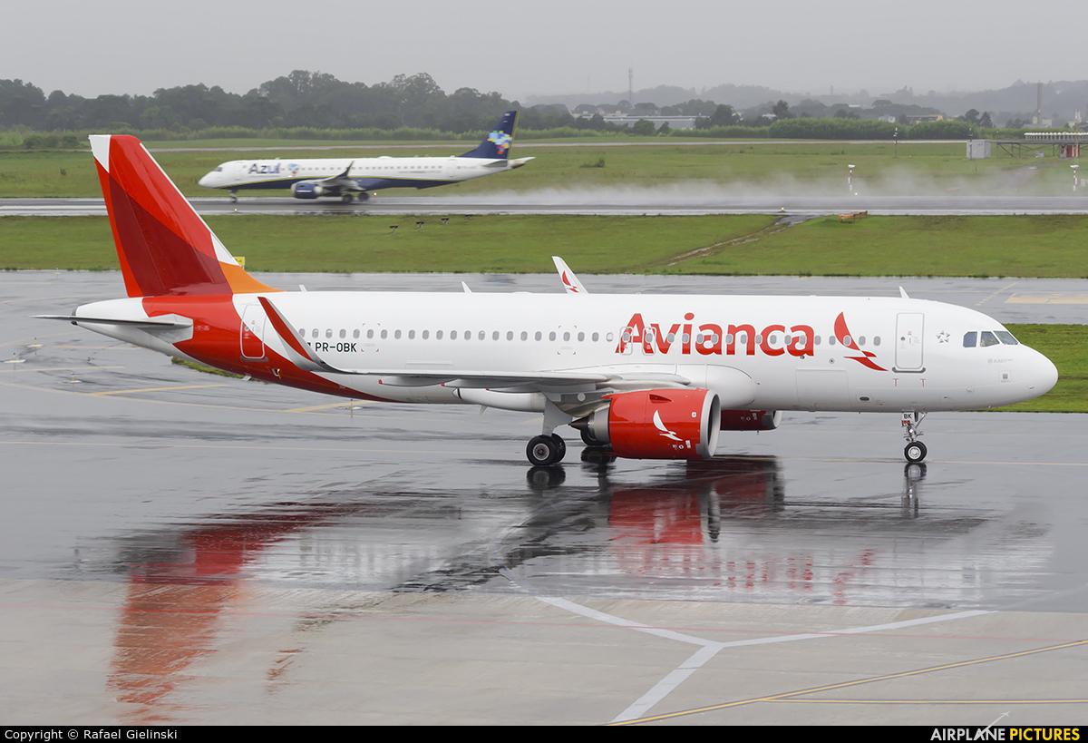 Avianca Brasil PR-OBK aircraft at Curitiba -  Afonso Pena