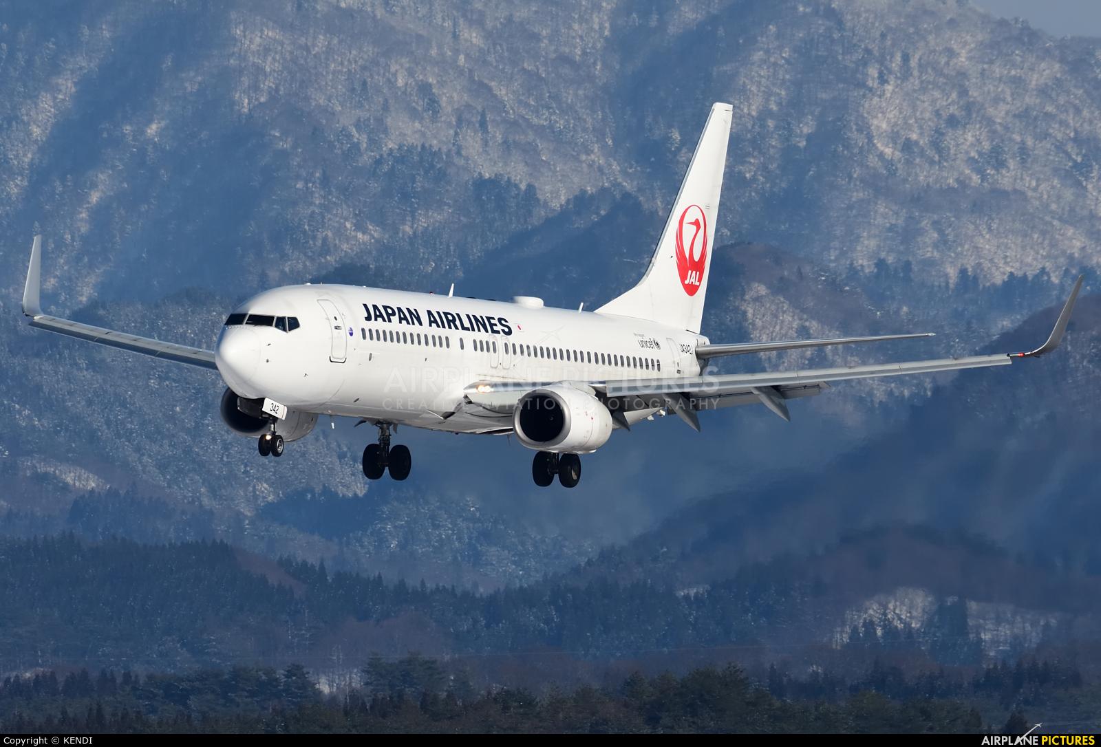 JAL - Japan Airlines JA342J aircraft at Akita
