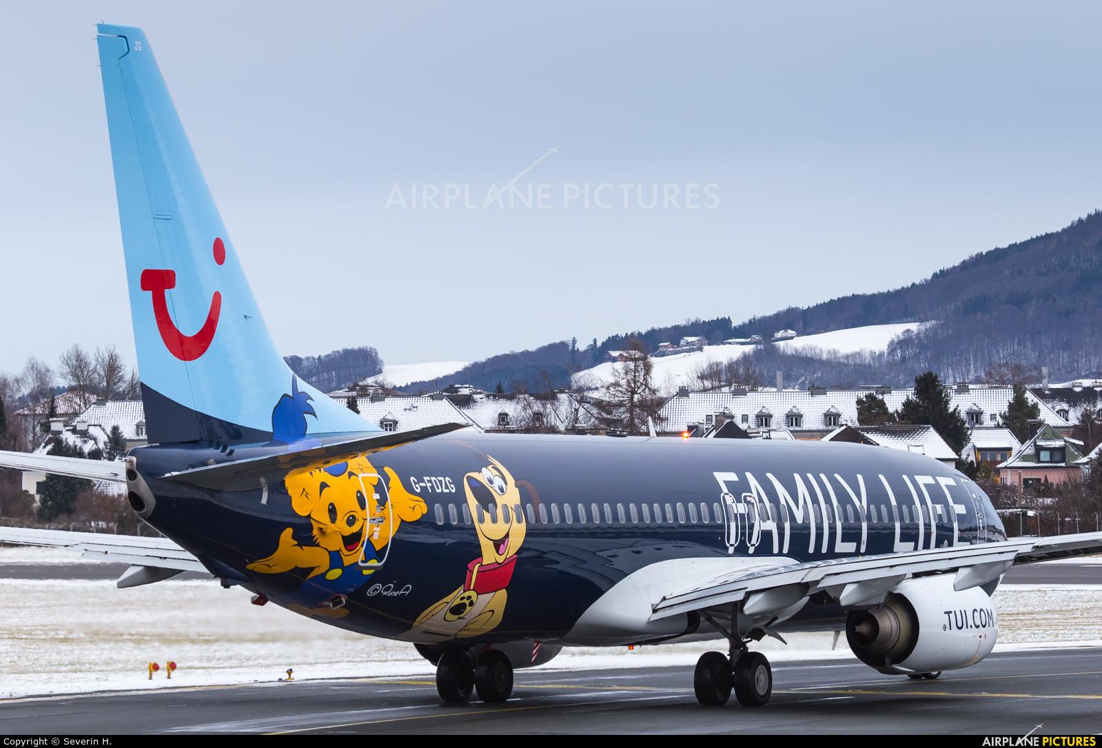 TUI Airways G-FDZG aircraft at Salzburg