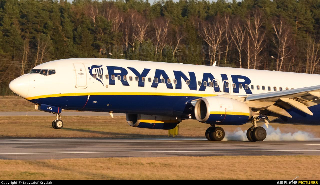 Ryanair EI-EVX aircraft at Gdańsk - Lech Wałęsa