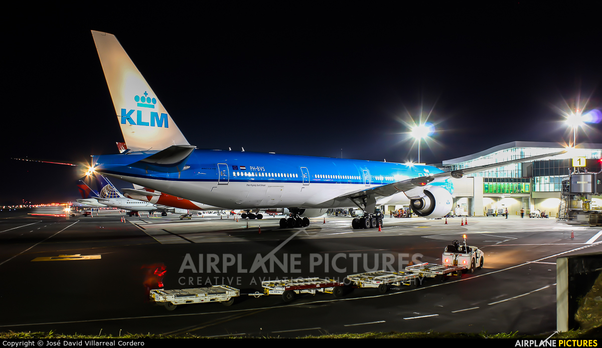 KLM PH-BVS aircraft at San Jose - Juan Santamaría Intl