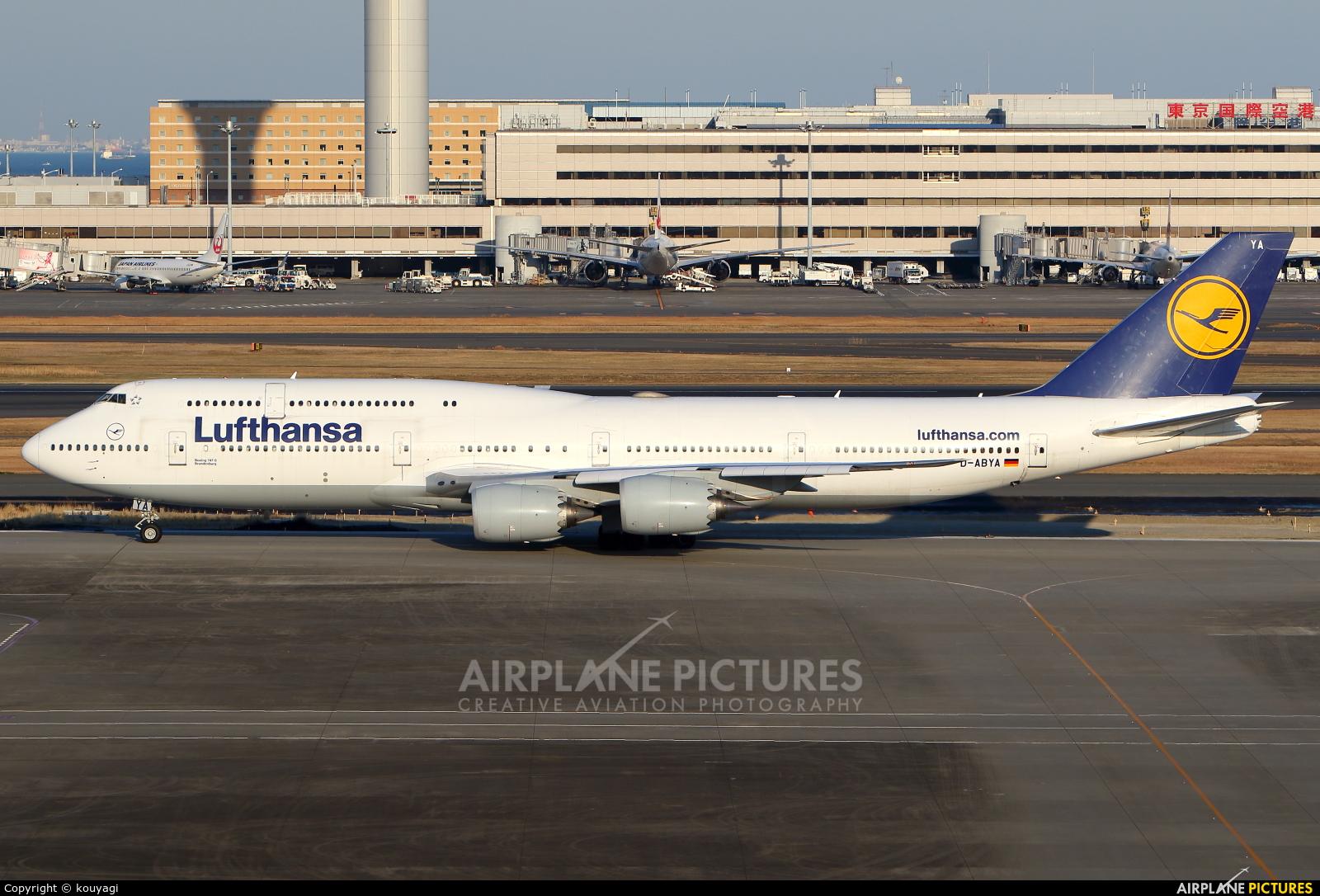 Lufthansa D-ABYA aircraft at Tokyo - Haneda Intl